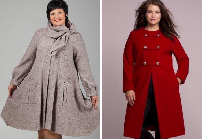 стильное пальто для полных женщин
