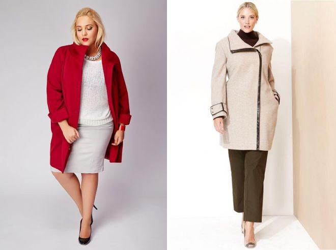 пальто кокон для полных женщин