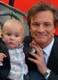 Колин Ферт с сыном