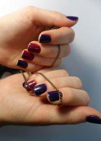 manicure o różnych kolorach 9
