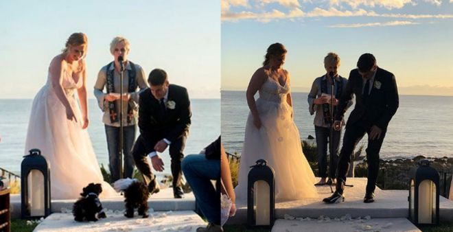 Фото со свадебной церемонии
