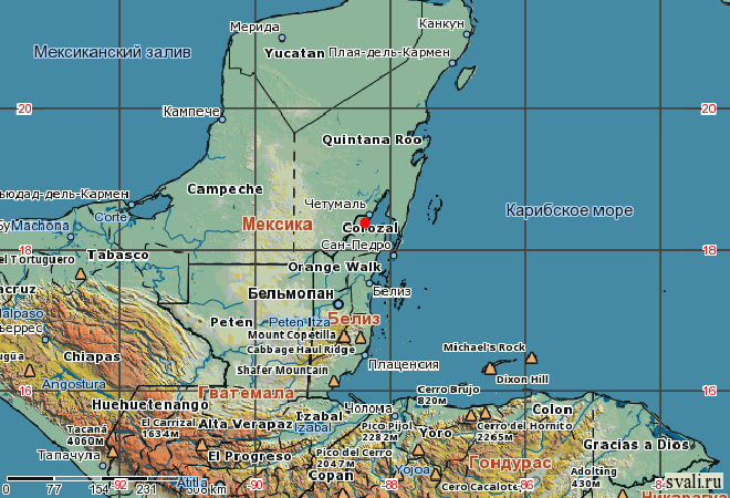 Корозал на карте