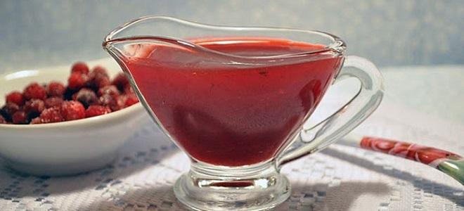 Sos brusznicowy z czerwonym winem
