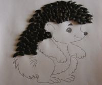 řemesla ježek ze semen 21
