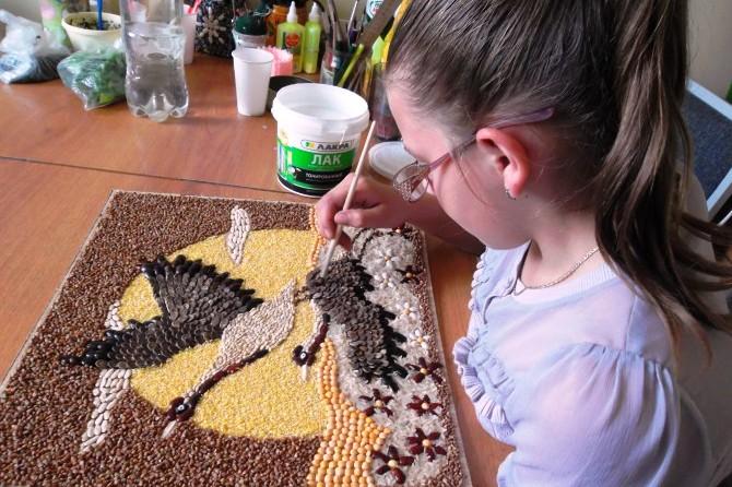 rzemiosło z nasion i zbóż własnymi rękami3