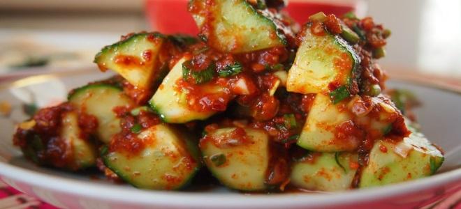 Kimchi od krastavaca na korejskom za zimu
