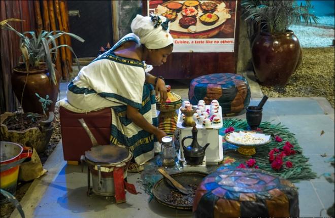 Традиционный эфиопский ресторан