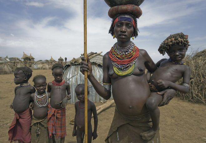 Женщина в Эфиопии