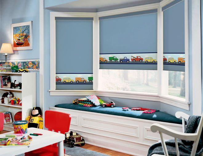 рулонные шторы в детскую для мальчика