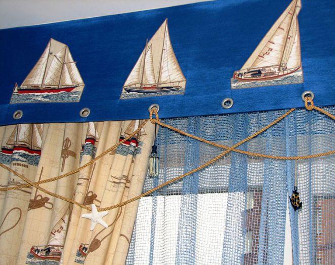 шторы в морском стиле для мальчика
