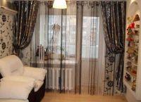 Zasłony w salonie z drzwiami balkonowymi6