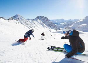 Синие лыжные трассы
