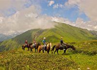 Прогулки на лошадях в Давосе