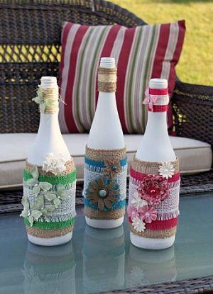 Dekoracja butelki DIY 1