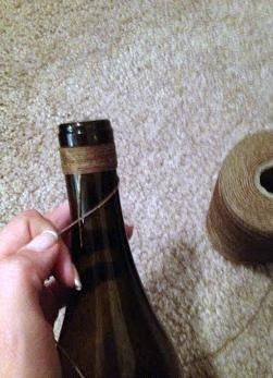 Dekorowanie butelek DIY 26