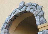 Dekorowanie łuku za pomocą ozdobnego kamienia 8