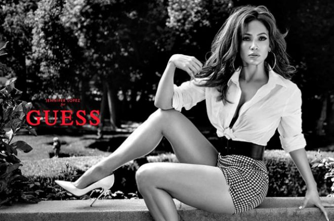Дженнифер Лопес в рекламной кампании Guess