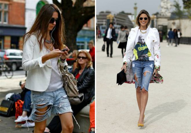 modne ženske denim kratke hlače