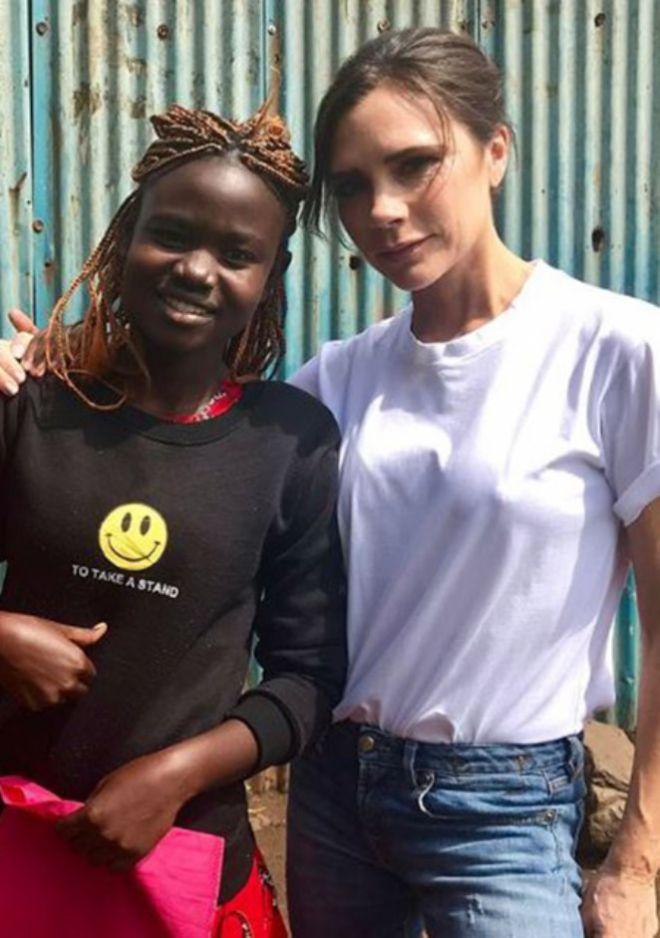 Бекхэм с девушкой из Кении