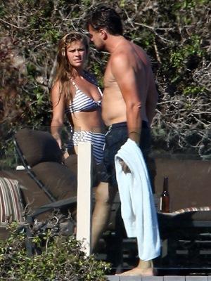 Ди Каприо и Агдал на пляже