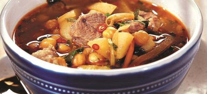 Супа са чичмама и месом