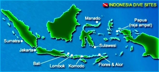 Приблизительная карта дайвинг-сайтов