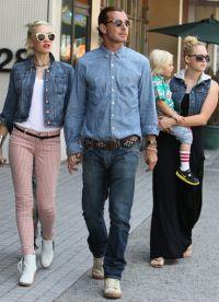 Гвен Стефани с мужем и няня с ребенком
