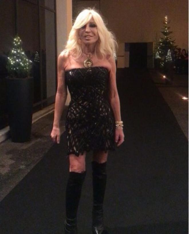 Донателла Версаче на вечеринке Дома Versace