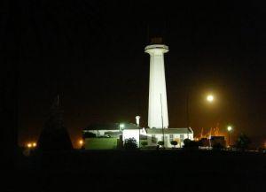 Маяк музея ночью