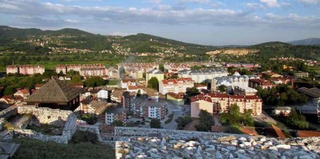 Добой - вид на город