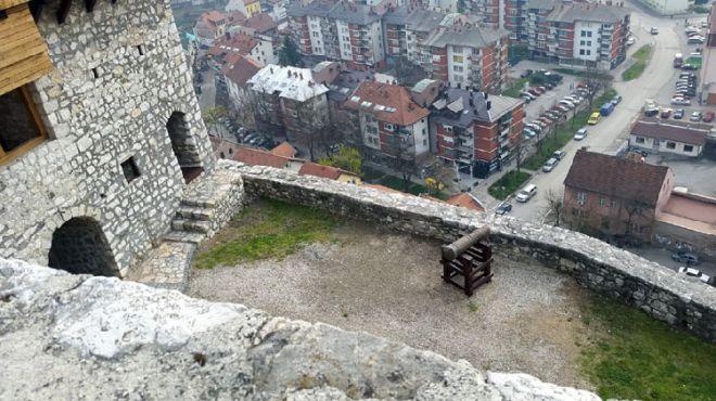 Вид на город с крепости Добоя