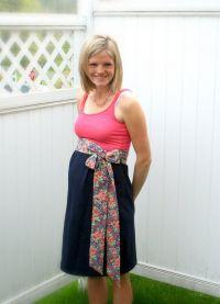 Sukienka dla kobiet w ciąży z własnymi rękami24