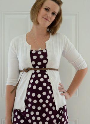 Sukienka dla kobiet w ciąży z własnymi rękami7