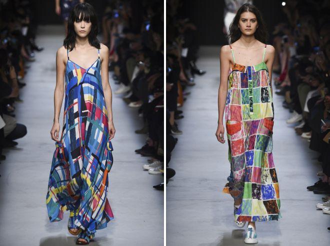 модное платье в клетку для отпуска