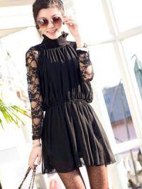 Sukienka z długim rękawem4