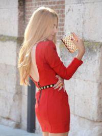 Sukienka z długim rękawem8