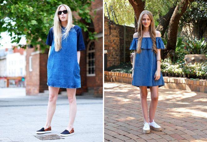летние платья с кедами