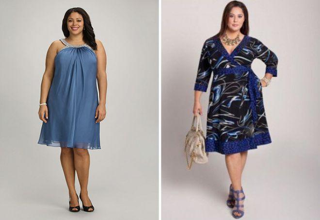 Suknie trapezowe dla otyłych kobiet