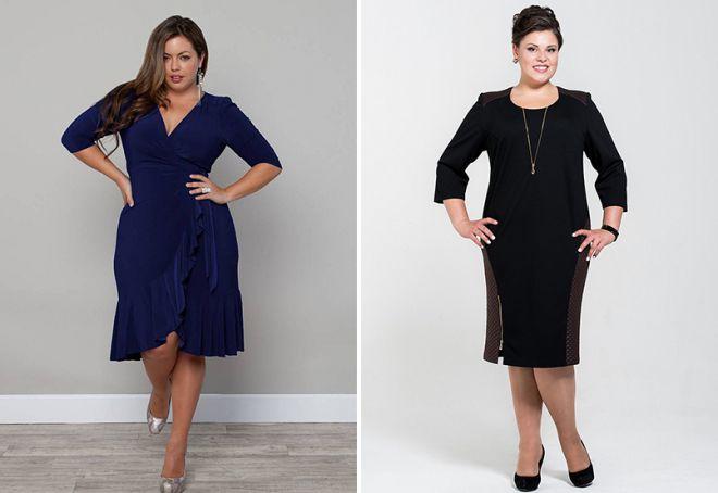 stylowe sukienki dla otyłych kobiet