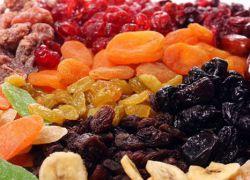 uporaba suhega sadja in oreškov