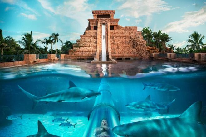 Аквпарк Aquaventure - самый большой в Дубае