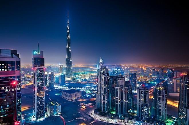 Ночной Дубай очень красив