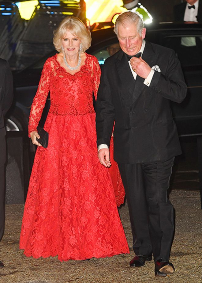 Герцогиня Корнуольская Камилла и принц Чарльз прибыли на Royal Variety Performance