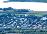 Панорама города Эгильсстадир