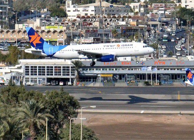 Живописный аэропорт в курортном городе Эйлат