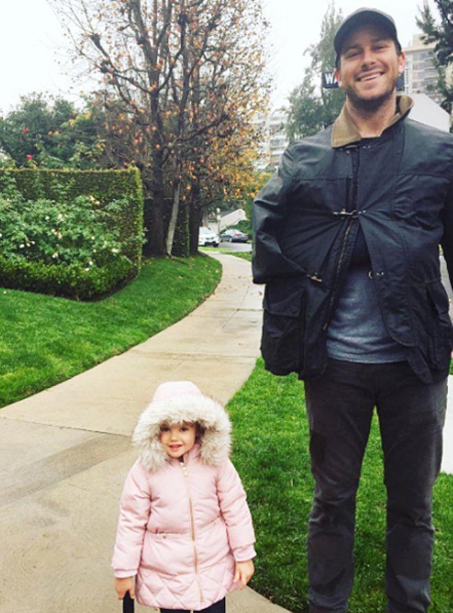Арми Хаммер с дочкой Харпер