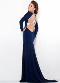 Suknia wieczorowa z długim rękawem 6