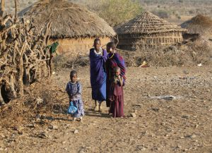 Деревня племени масаи