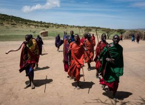Племя масаи в Танзании