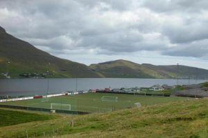 Футбольное поле в Исландии